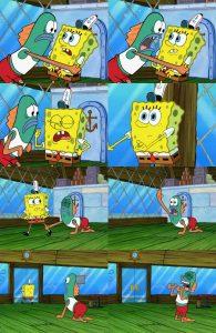 Polosan spongebob pergi dari krusty krab