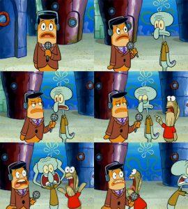 Polosan squidward diwawancarai