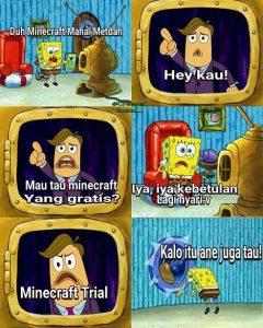 meme minecraft spongebob