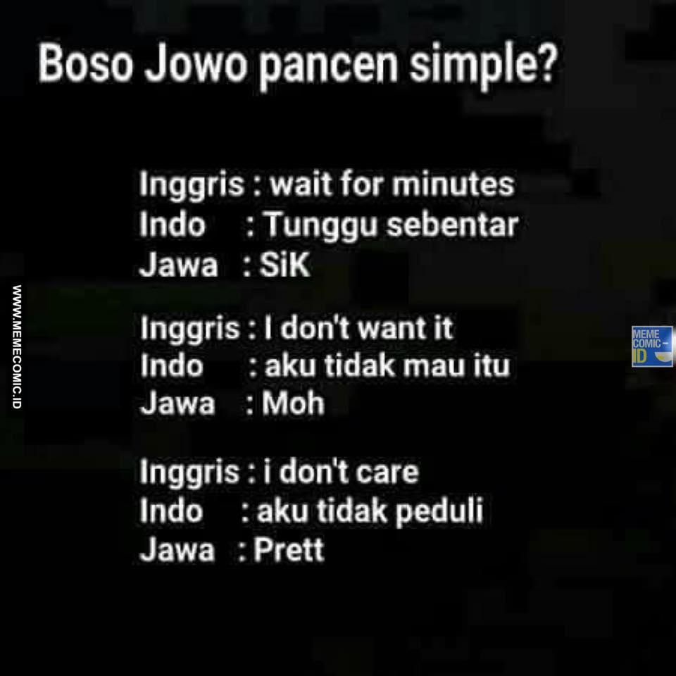 10 Meme Jawa Ini Bikin Kamu Cengar Cengir Dewe Indonesia