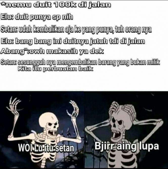 Meme setan lupa diri