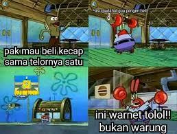 meme tuan krab warnet