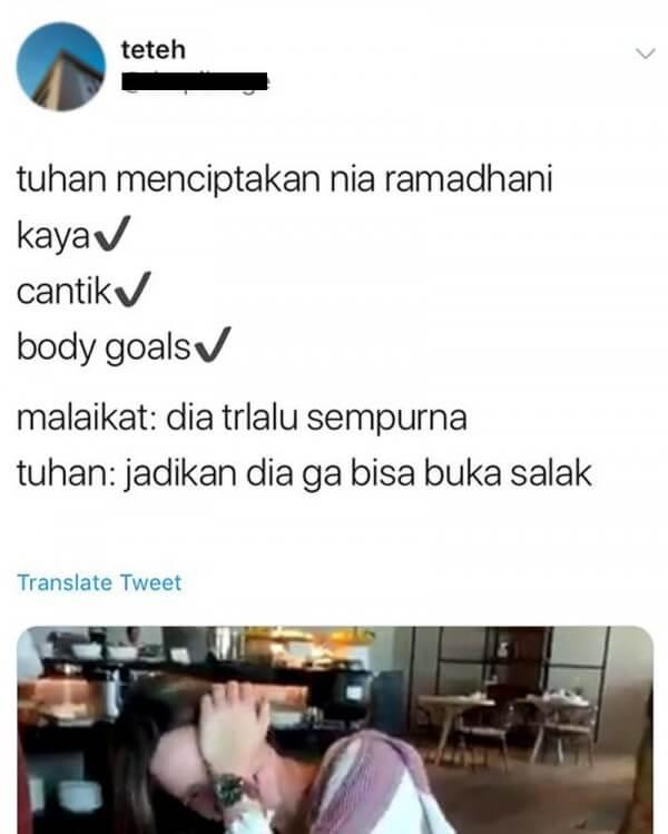 meme nia ramadhani salak twitter