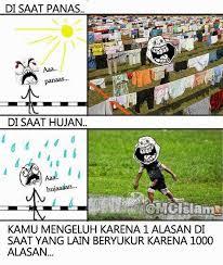 Meme tentang hujan