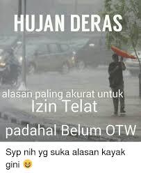 gambar hujan lucu