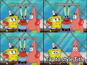 meme spongebob indonesia