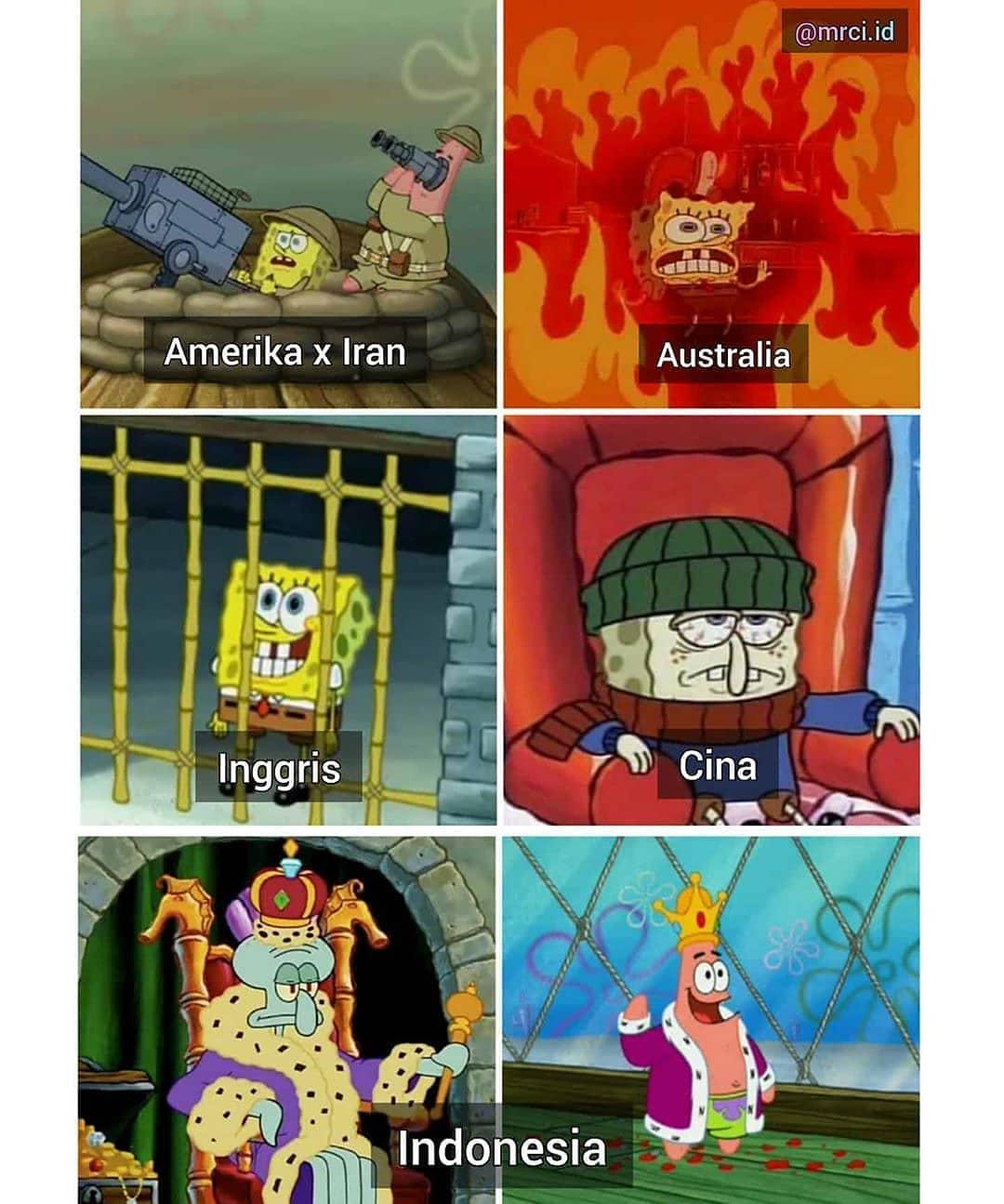 meme spongebob situasi terkini