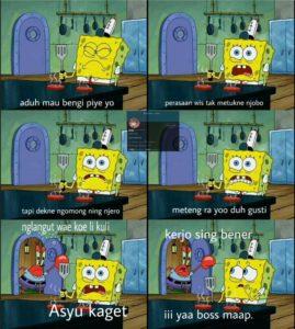 gambar lucu spongebob jawa