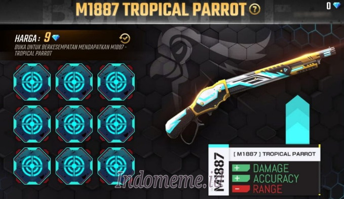 Cara Mendapatkan Skin SG Tropical Parrot FF