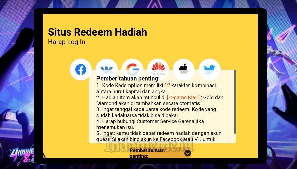 Kode Redeem FF 7 September 2021